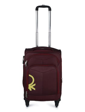 BENETTON SMALL SOFT TROLLEY BAG MAROON