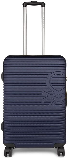 BENETTON STAN LARGE LUGGAGE TROLLEY BLUE