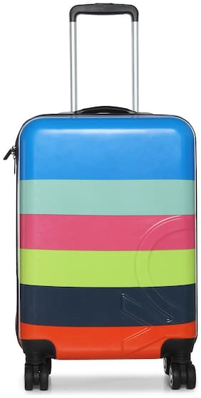 United Colors Of Benetton Cabin Size Hard Luggage Bag - Multi , 8 Wheels