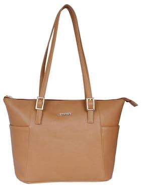 BERN Brown Faux Leather Handheld Bag