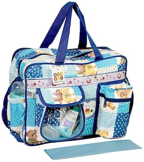 Bey Bee Baby Diaper Bag / Mother Bags 18 Ltr with 6 Pockets Dark Blue