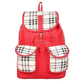 Bizarre Vogue Stylish College Bags Backpacks For Girls (Red, BV1043)