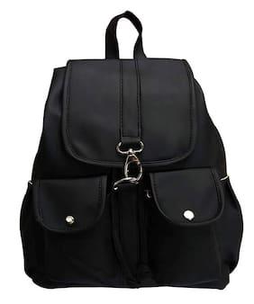 Bizarre Vogue Stylish College Bags Backpacks For Girls (Black,BV1052)