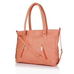 Bizarre Vogue Women's Stylish Handbag (Peach, BV964)