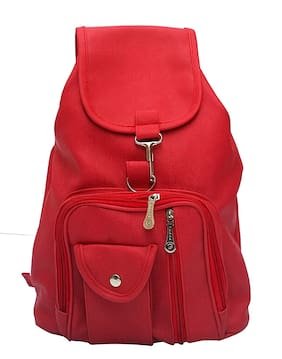 Bizarre Vogue Stylish College Bags Backpacks For Women & Girls (Red)