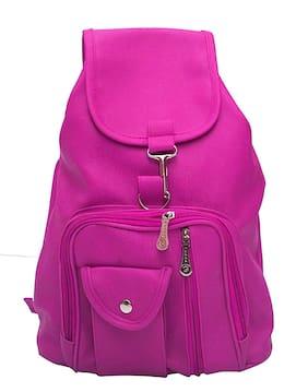 Bizarre Vogue Women's Cotton Pink Backpack