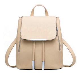 Bizarre Vogue Stylish College Bags Backpacks For Girls (Cream,BV1062)