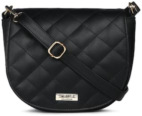 Truffle Collection Women Solid Pu - Sling Bag Black