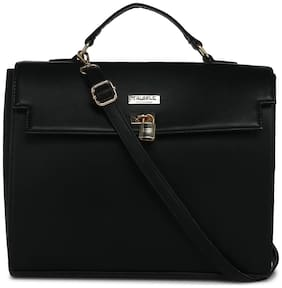 Truffle Collection Faux leather Women Handheld bag - Black