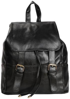 Black PU Backpack