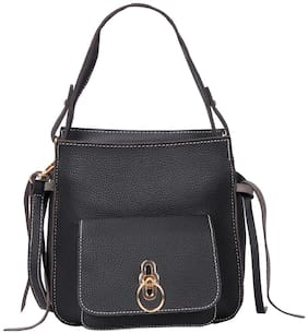 Bagkok Women Solid PU - Sling Bag Black