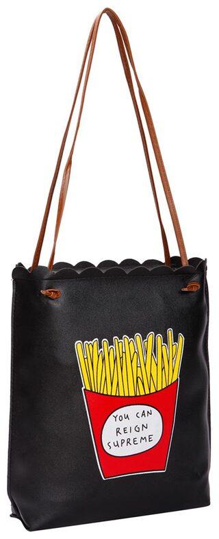 Black PU Tote Bag
