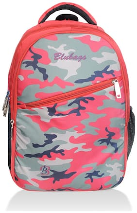 BLUTECH Red Waterproof Canvas & Polyester Backpack