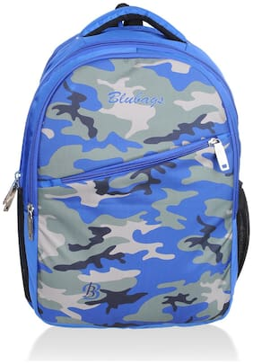 BLUTECH Blue Waterproof Canvas & Polyester Backpack