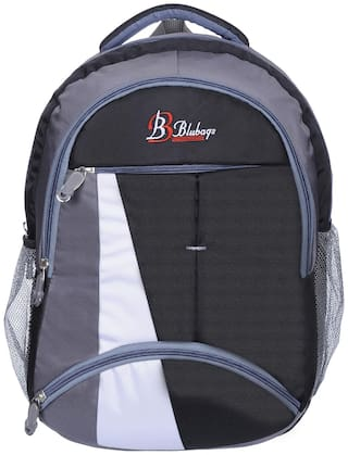 BLUTECH Black Waterproof Canvas & Polyester Backpack