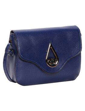Blue PU Sling Bag