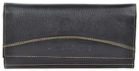 Bluwhale Women Solid Leather - Clutch Black