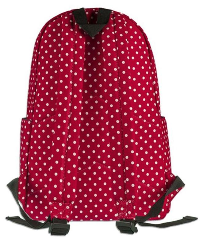 53edc8c147 Buy Bonmaro Polka Dot Red Canvas Backpack Online at Low Prices in India -  Paytmmall.com