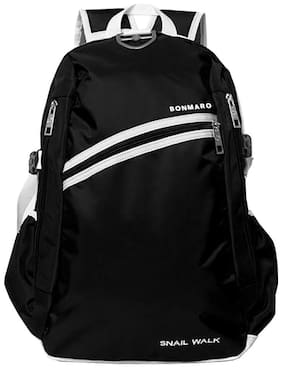 Bonmaro Black Polyester Backpack