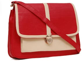 Borse Women Solid PU - Sling Bag Red