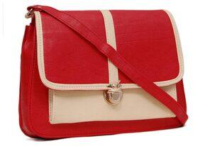 Borse Women Pu Sling Bag - Red