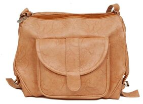 Borse Women Pu Sling Bag - Beige