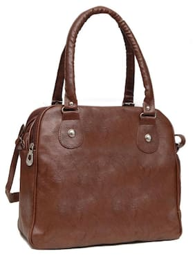 Borse Brown Faux Leather Handheld Bag