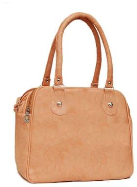 Borse Beige Faux Leather Handheld Bag