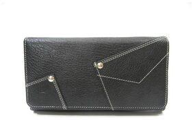 BORSE Women Leather Wallet - Black