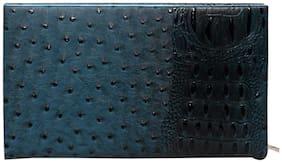 Borse Women PU Wallet - Blue