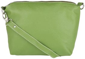 Borse Green PU Solid Sling Bag