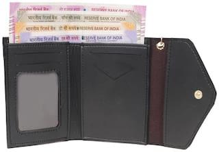 BORSE Women Black PU Wallet
