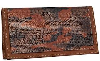 Borse LK237 Genuine Leather Brown Wallet