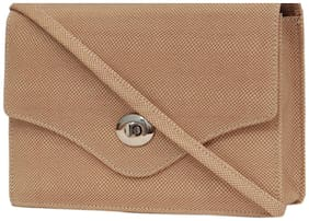Borse Women Solid Leather - Sling Bag Beige