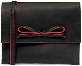 Borse Black PU Solid Sling Bag