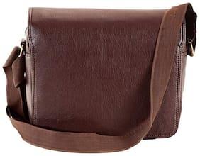 Borse Men Brown Leatherette Sling Bag - Gift for Christmas & New Year