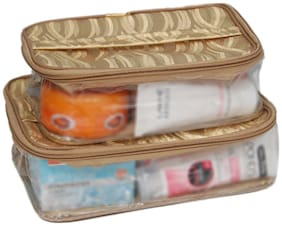 Borse Multifunctional | Cosmetic Organiser Bag (Multicolour, Pack of 2)