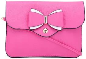 Borse Pink PU Solid Sling Bag