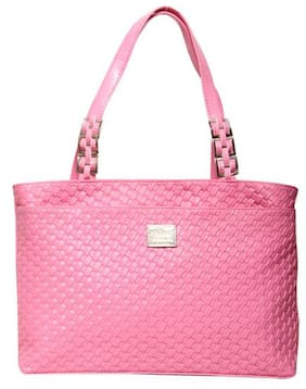 Borse Pink Faux Leather Handheld Bag