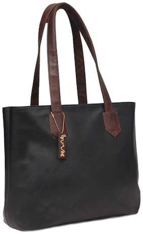 BORSE Women Solid Leather - Tote Bag Black