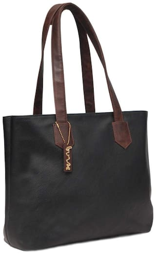BORSE Women Solid Leather - Tote Bag Black