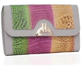 BORSE Women Multi Leather Wallet