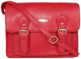BERN Red PU Solid Sling Bag