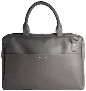 BROKE MATE Grey PU Laptop Messenger Bag