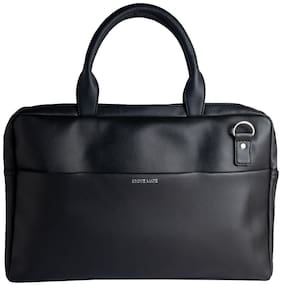 BROKE MATE Black PU Laptop Messenger Bag