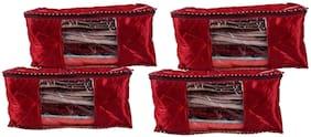 BULBUL Red Saree Covers - 4 pcs