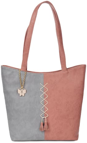 Butterflies Pink PU Handheld Bag - Handbag