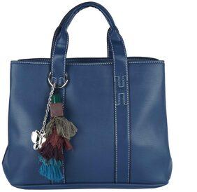 Butterflies Women Pu Handheld Bag - Blue