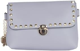 Butterflies Women Solid Pu - Sling bag Grey