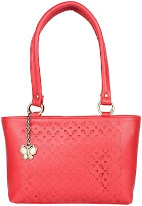 Butterflies Red PU Handheld Bag